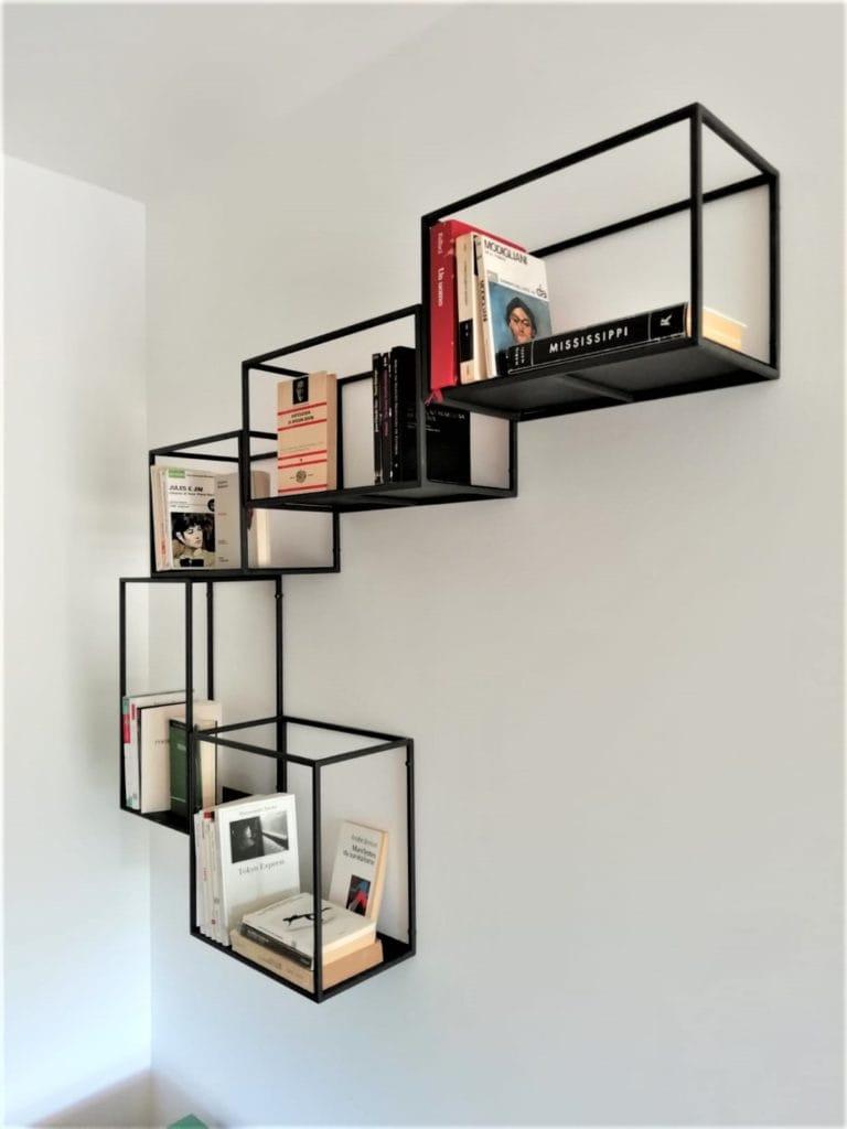 Libreria modulare fatta a mano